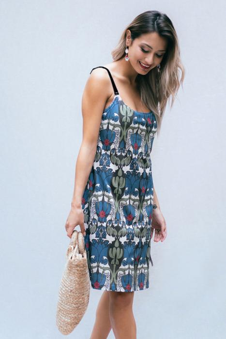 Umstands- und Still-Kleid mit Stillclip midnight magic