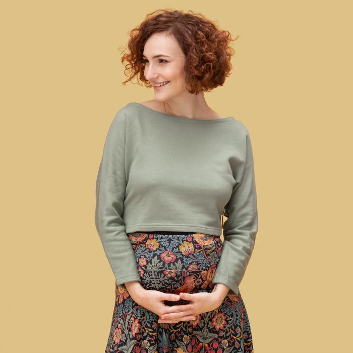 Umstands- und Still-Pullover kurz dick
