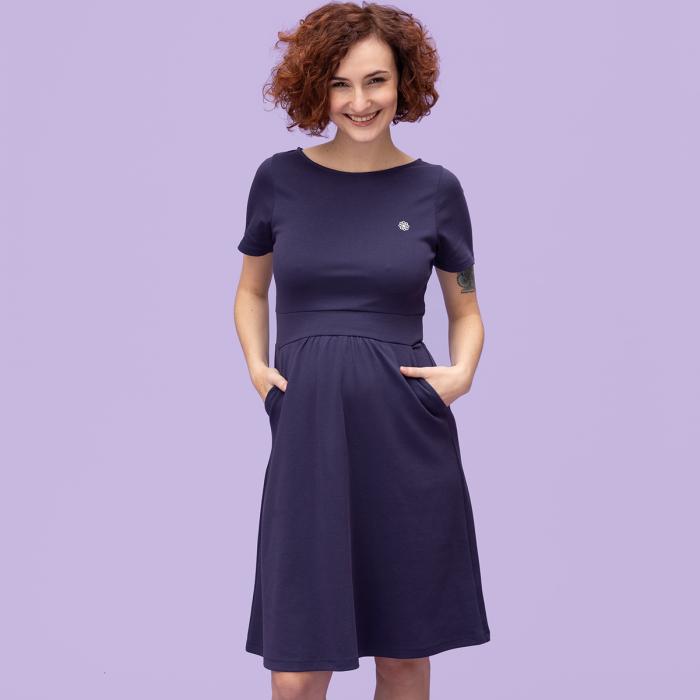 Umstands-Kleid Bio-Baumwolle/Tencel