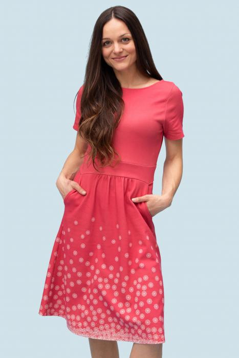 Umstands-Kleid flowers Bio-Baumwolle/Tencel